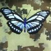 вышивка на крое бабочка